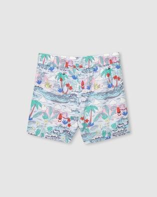 Milky Summer Boardshorts   Kids - Swimwear (Ice Blue)