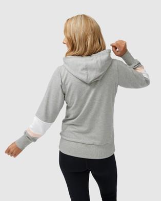 Avila Embossed Logo Hoodie - Hoodies (Grey)