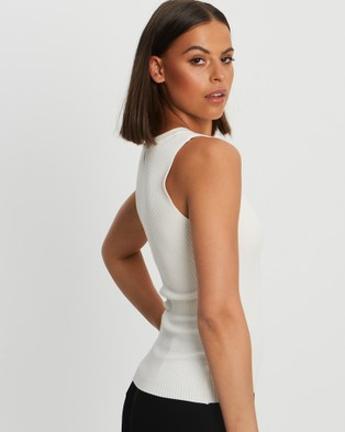 Willa Chase Knit Top - Tops (White)