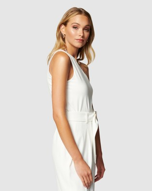 Forever New - Tarryn Jersey One Shoulder Top - Tops (Porcelain) Tarryn Jersey One Shoulder Top
