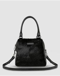 Status Anxiety - Last Mountains Satchel - Black/Cow Hide