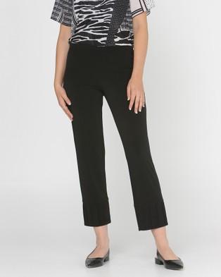 Faye Black Label Crop Pintuck Pants - Pants (Black)