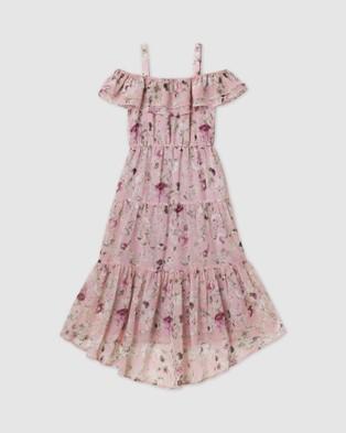 Designer Kidz Hailey Floral Tiered Dress - Dresses (Pink)