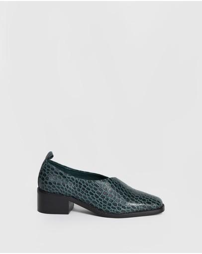 Bul Tofana Shoes Green Croc
