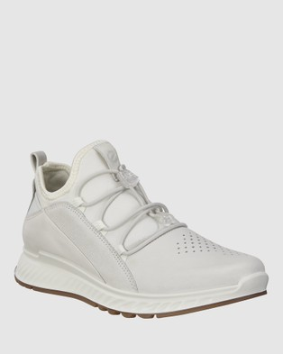 ECCO ST1 Women's Sneakers - Lifestyle Sneakers (White)
