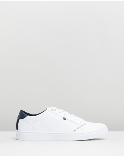 Tommy Hilfiger - Jacquard Leather Sneakers