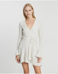Shona Joy - Hayes Frill Cuff Wrap Mini Dress