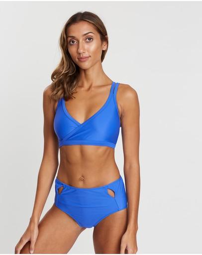 Allerton Studio Sports Bikini Crop Blue Crush