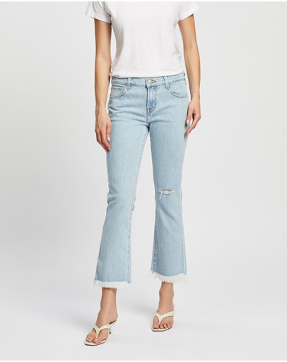 J Brand - Selena Mid-Rise Crop Boot Jeans
