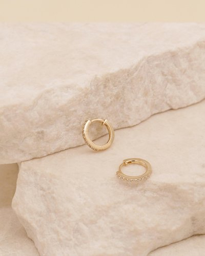 Celestial 14k Gold Sleepers Earrings