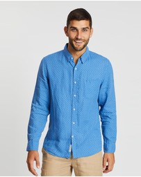Sportscraft - Long Sleeve Printed Euro Linen Shirt