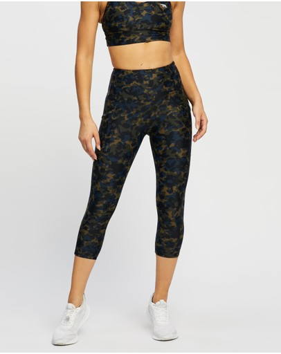 Running Bare - Ab Waisted Power Moves 3/4 Tights