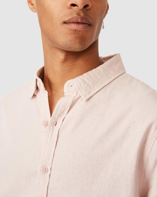 Cotton On Linen Cotton Long Sleeve Shirt - Casual shirts (Powder Pink)