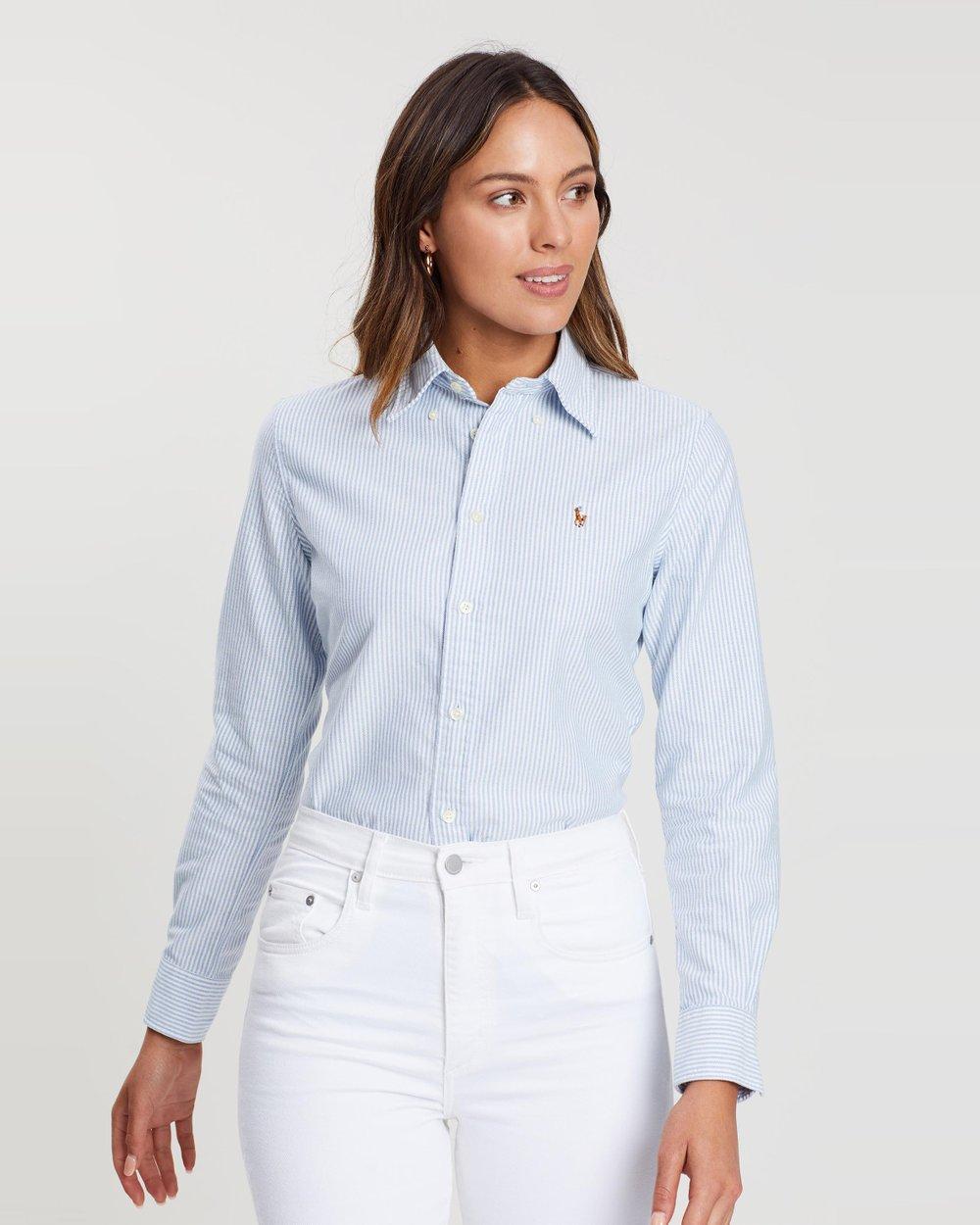 d07d671e31b Custom Fit Striped Shirt by Polo Ralph Lauren Online