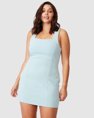 Supre Ivanna Wide Strap Ponte Dress - Dresses (Soft Moss)