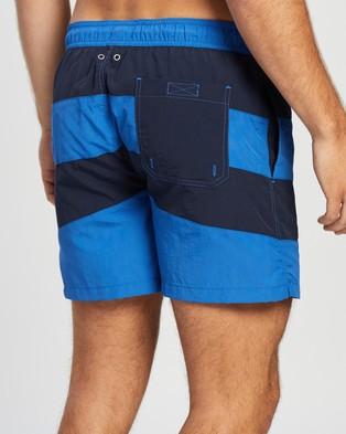 Gant Rugby Stripe Swim Shorts - Swimwear (Nautical Blue)