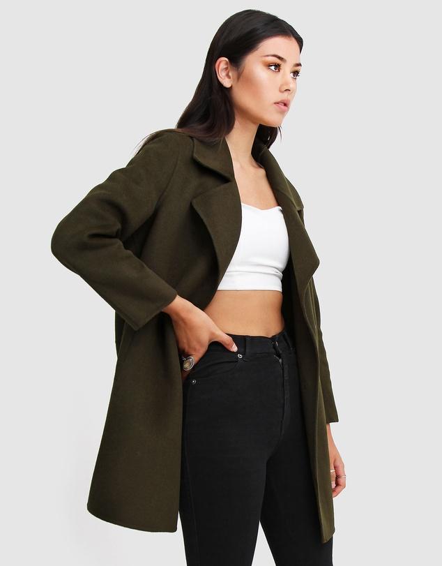 Women Ex-Boyfriend Wool Blend Oversized Coat