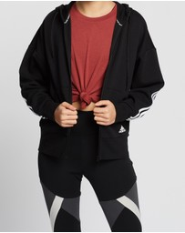 adidas Performance - 3-Stripes Double Knit Full-Zip Scuba Hoodie