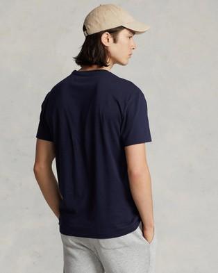 Polo Ralph Lauren - Classic Fit Jersey Crew Neck T Shirt - T-Shirts & Singlets (Navy) Classic Fit Jersey Crew Neck T-Shirt