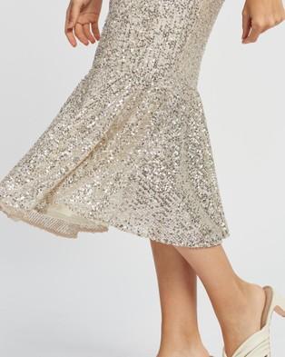 Romance by Honey and Beau Chantel Frill Dress - Bridesmaid Dresses (Silver)
