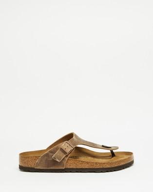 Birkenstock Gizeh   Men's - Casual Shoes (Tabacco)