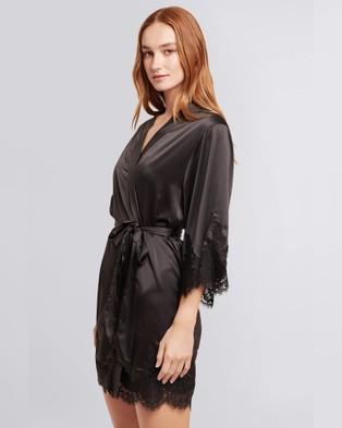 Homebodii Olivia Robe - Sleepwear (Black)