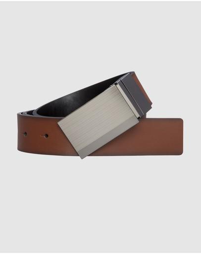 Yd. Riley Reversible Dress Belt Brown