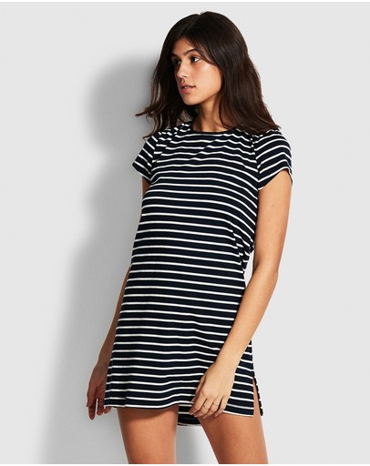 Seafolly Vacay Tee Dress Navy/wht