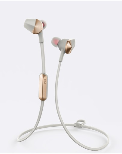 Fitbit - Fitbit Flyer Rose Gold Wireless Earphones