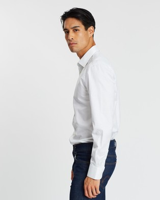 Gieves and Hawkes Long Sleeve Shirt - Shirts & Polos (Blue)