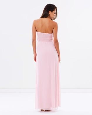 SKIVA Strapless Chiffon Evening Dress - Bridesmaid Dresses (Pink)