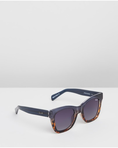 Quay Australia - After Hours Navy and Tort Square Sunglasses