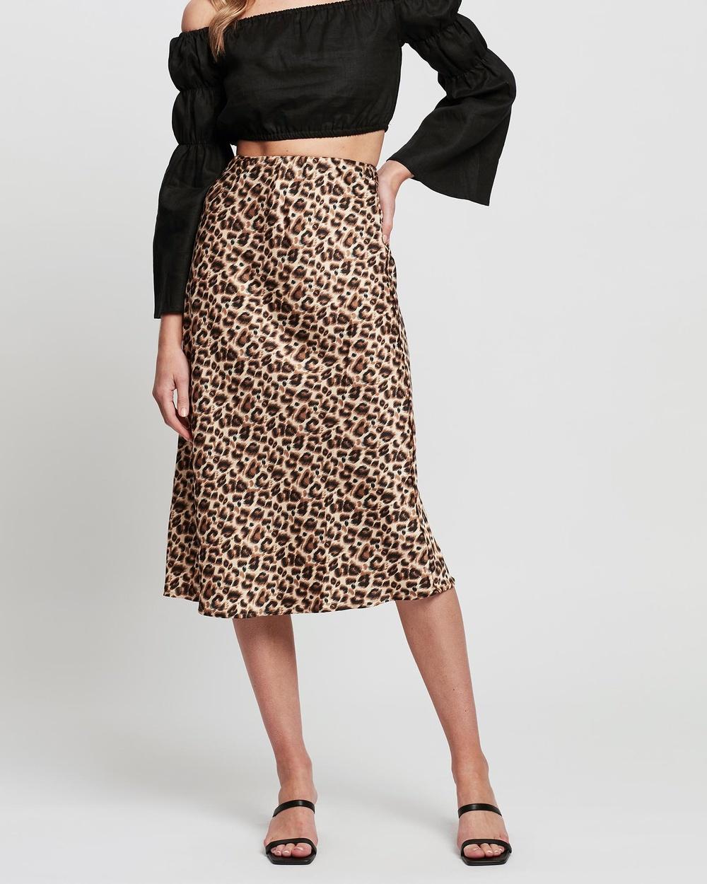 Jorge Leopard Midi Skirt Skirts Multicoloured Australia