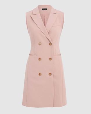 Forcast Toni Vest Dress - Dresses (Dusty Pink)