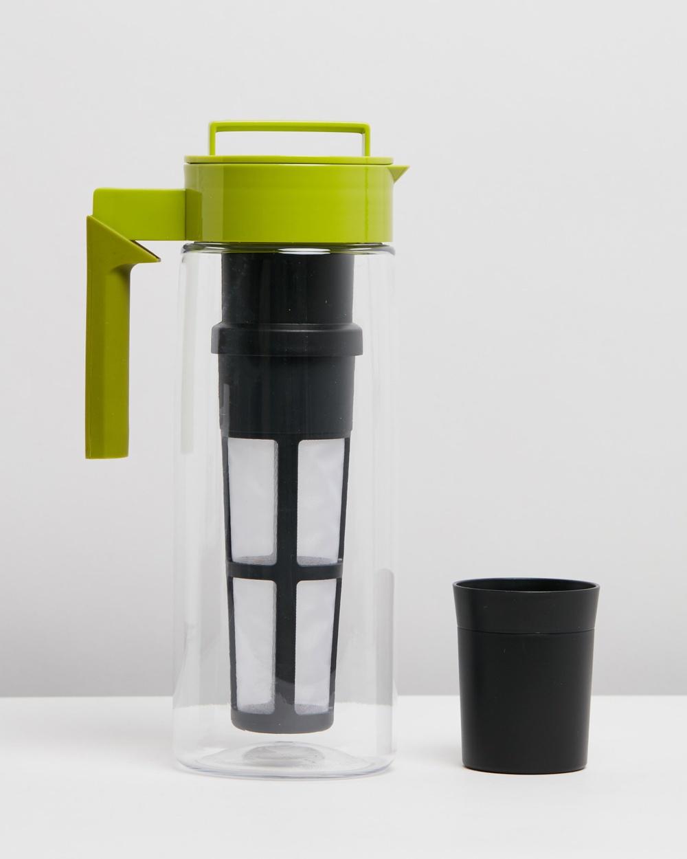 TAKEYA 1.8L Flash Chill Iced Tea Maker 61oz Water Bottles Avocado