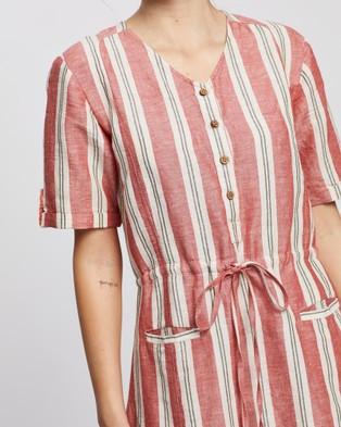 KAJA Clothing Yara Dress - Dresses (Red Stripe)
