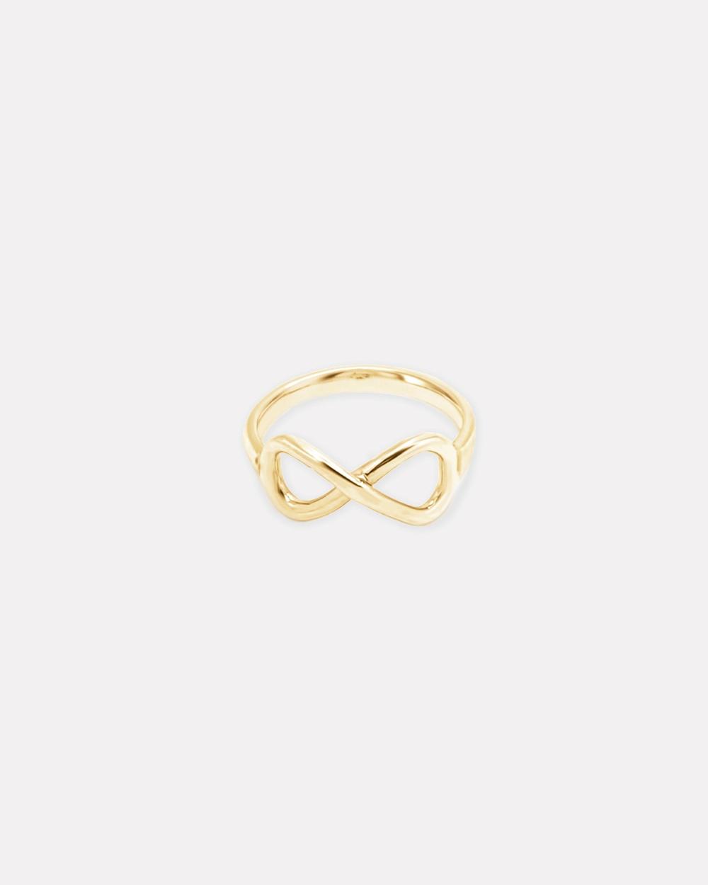 Ichu Infinity Ring, Gold Jewellery Gold