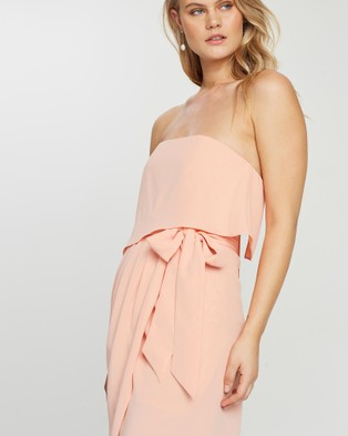 Esther Luxe Fleur Strapless Dress - Bridesmaid Dresses (Coral)