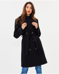 Atmos&Here - Valerie Wool Blend Double Breasted Coat