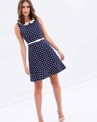 Review – Connect The Dots Dress – Dresses (Navy & Cream)