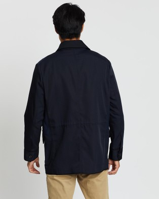 CERRUTI 1881 Colour Block Lightweight Jacket - Coats & Jackets (Navy)
