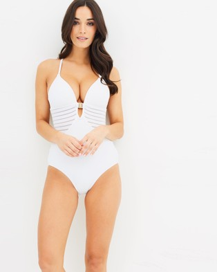 JETS – Plunge Swimsuit – One-Piece Swimsuit White
