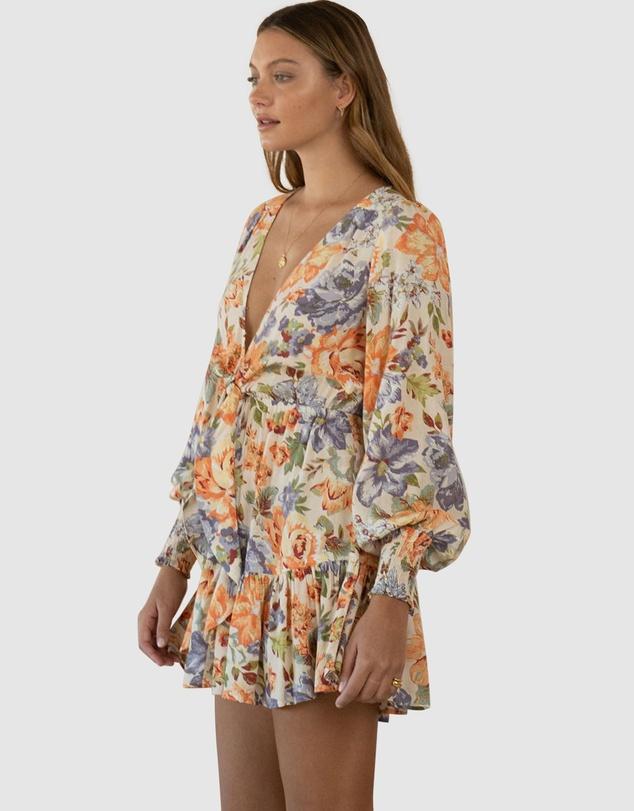 Women Aster Floral Mini Dress