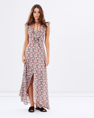 Atmos & Here – Delight Ruffle Maxi Dress – Dresses (Blush Floral)