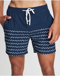 Staple Superior - Zig Zag Swim Shorts
