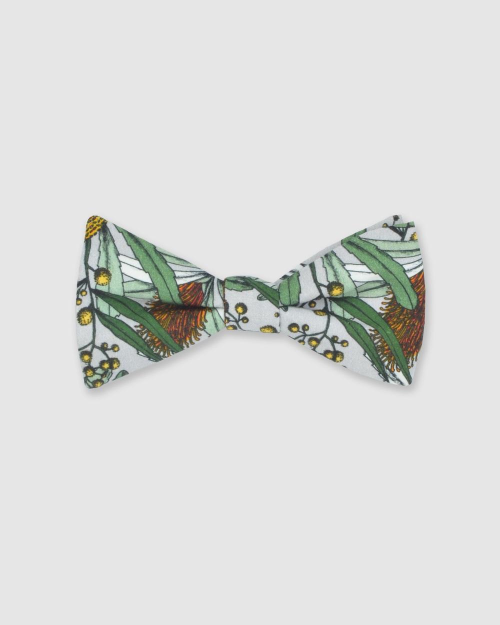 Peggy and Finn Banksia Bow Tie Ties & Cufflinks Grey Australia