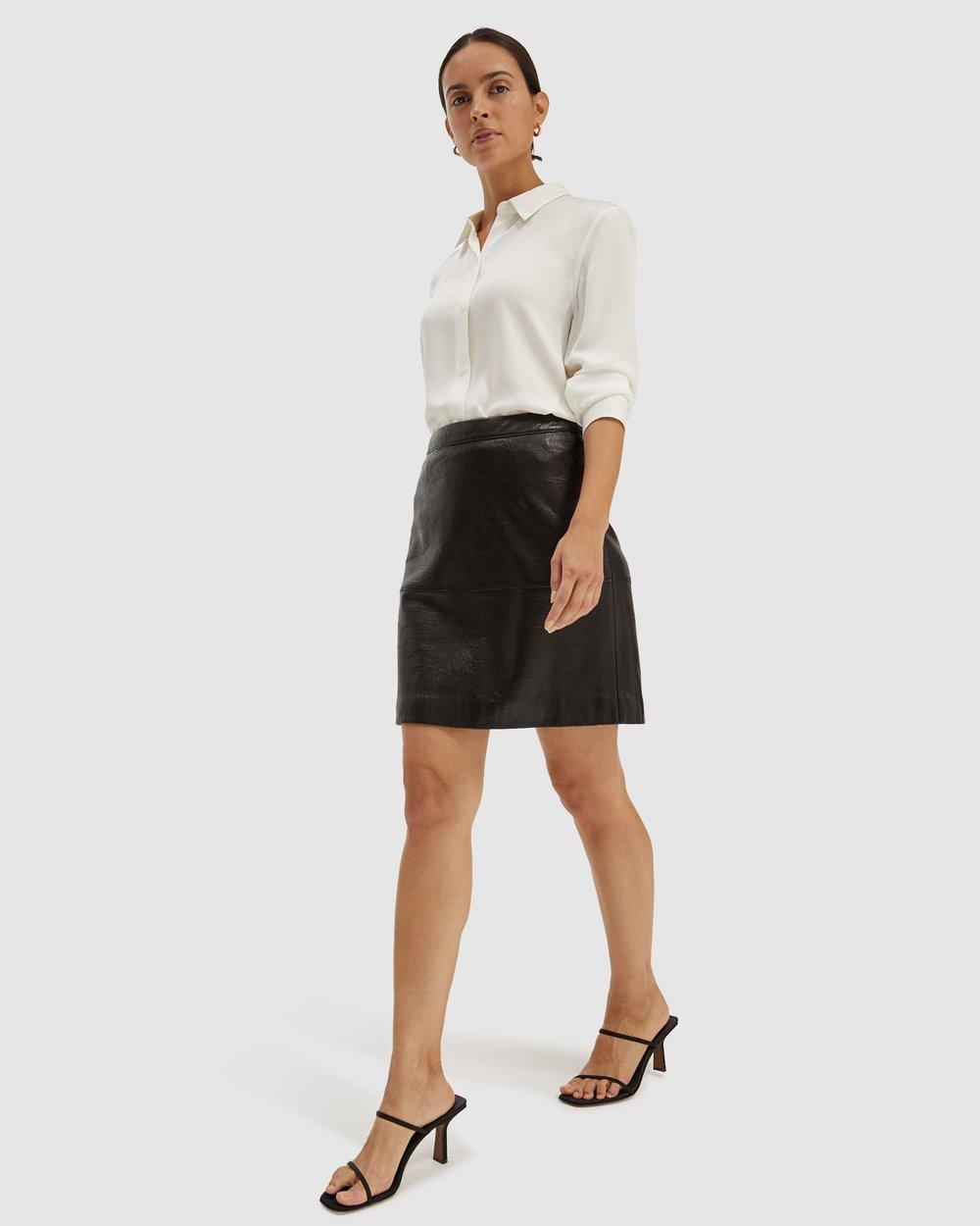 462dcfb827 Lilia Leather Mini Skirt by SABA Online   THE ICONIC   Australia