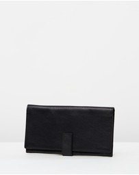 Loop Leather Co - Leather Travel Wallet with Tab Closure