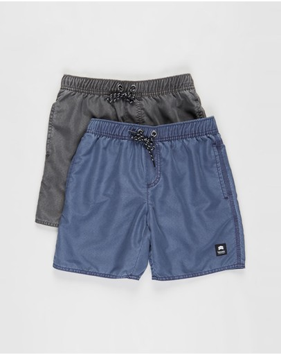 St Goliath - Illusion Elastic Waist Shorts Multi-Pack - Teens
