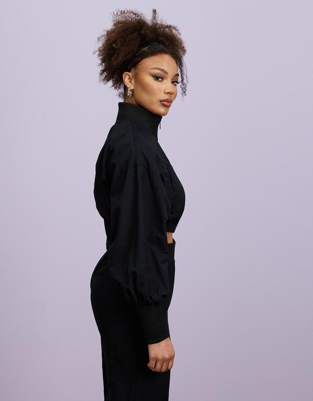 Women Zip-Through Deep Cuff Co-Ord